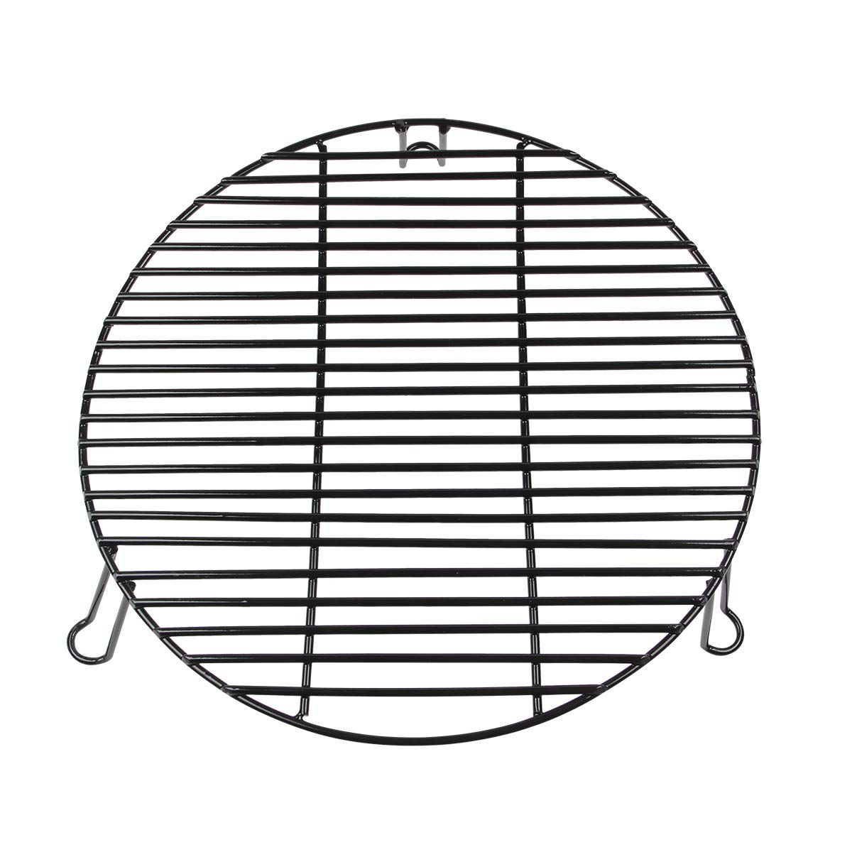 BBQ Grill Expander Rack Grilling Rack,Grill Warming Rack,Stack Rack With Enamel Coating Increase Grilling Surface Fit XL Big Green Egg,Big Joe or Other 24'' & Bigger Cooking-diameter Grill(XL-18 inch)
