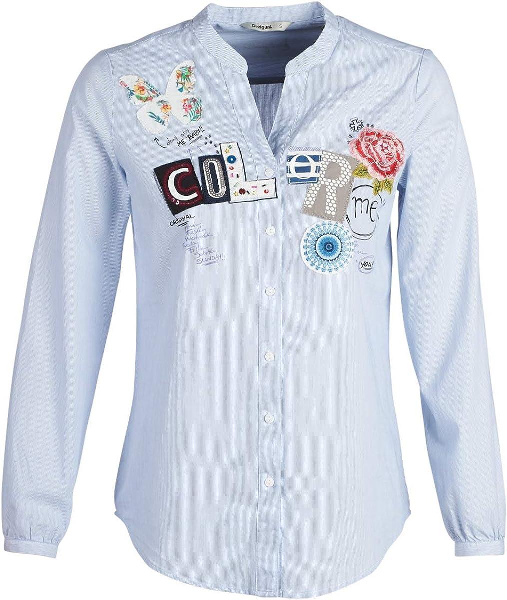 Camisa Desigual Georgina Azul XL Azul: Amazon.es: Ropa y accesorios