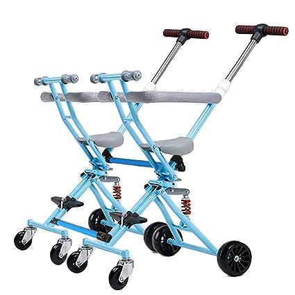 CHEERALL Cochecito Doble Plegable para Dos carritos para niños Cochecito para bebés Desmontable Doble Fácil de