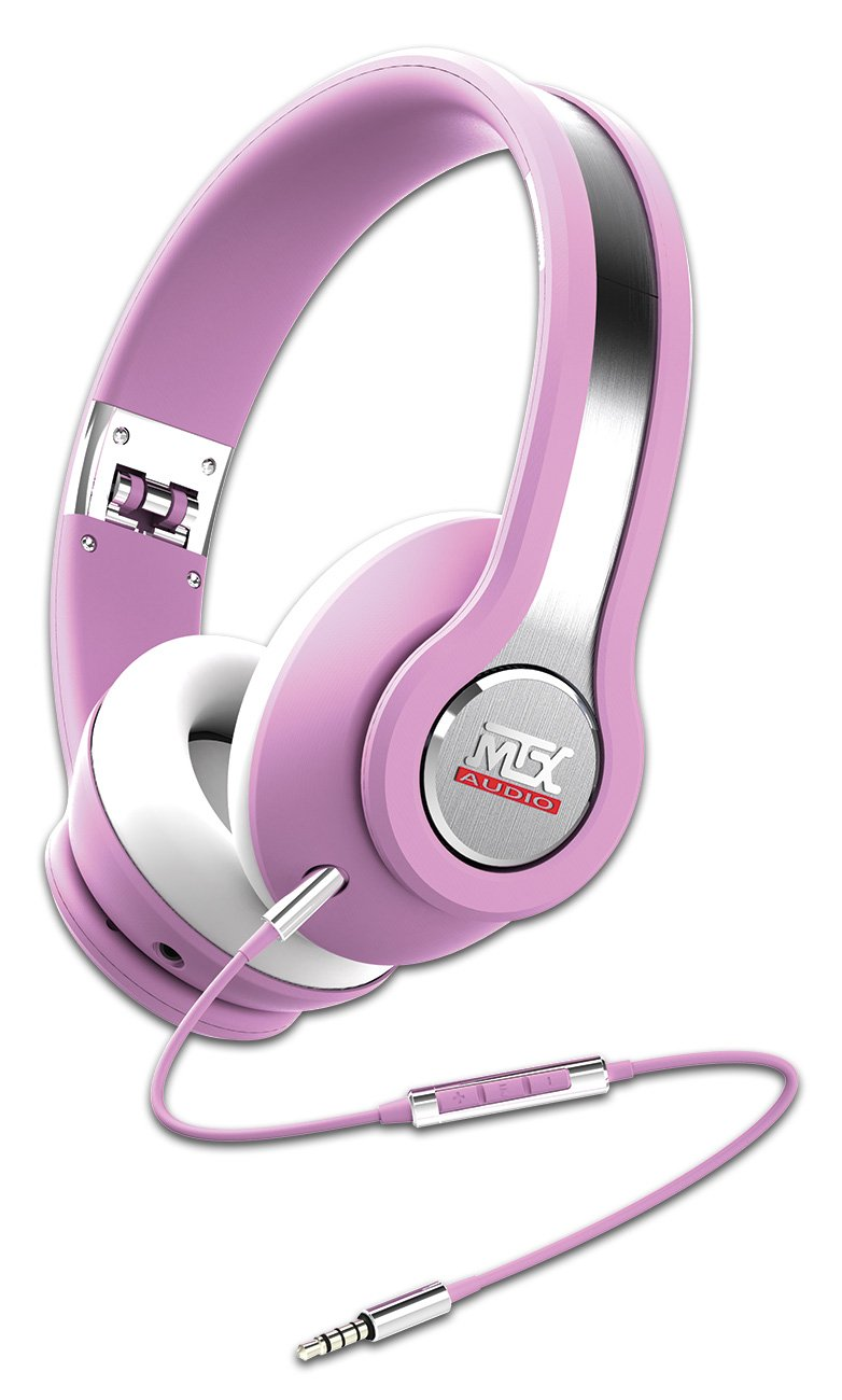 MTX Audio IX1-Pink Street Audio On Ear Acoustic Monitors - Pink