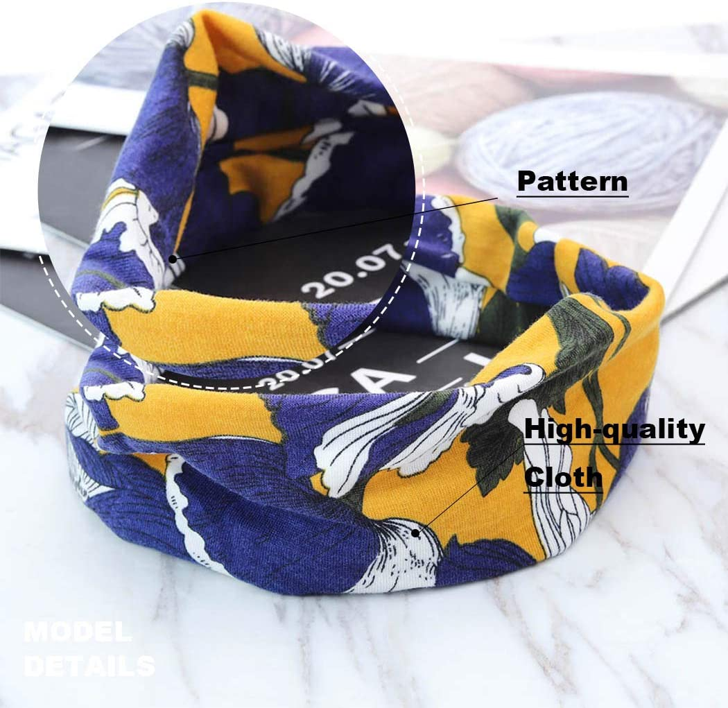 colore nero confezione da 3 stile boho Zoestar con motivo a turbante Fascia per capelli da yoga
