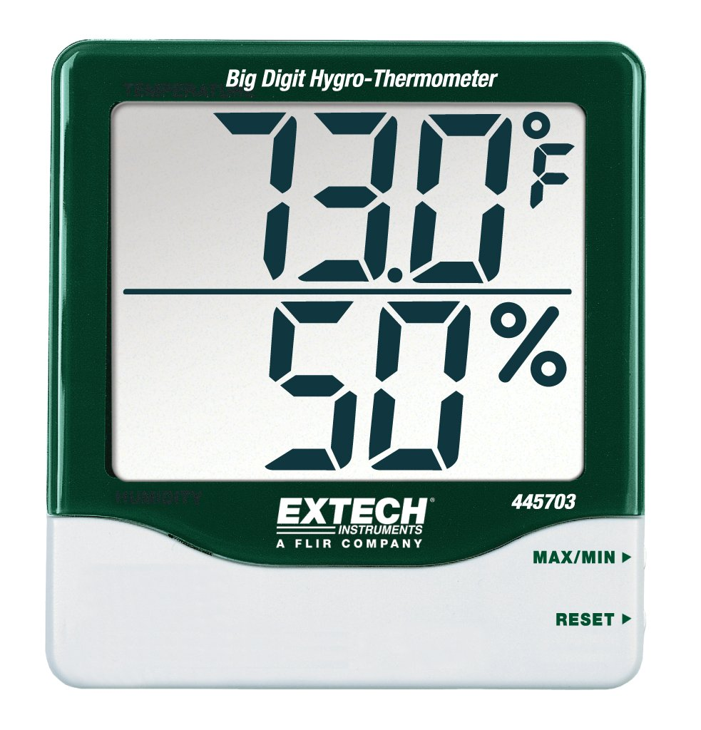 Extech Instruments 445703 Big Digit Hygro-Thermometer FLIR Systems Inc.