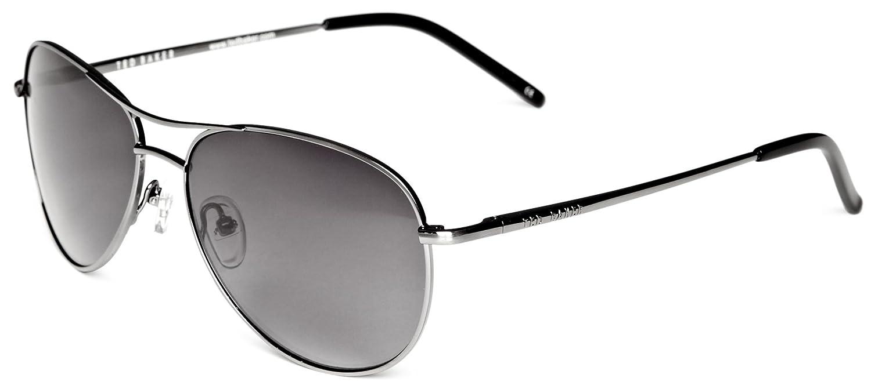 98664883de9 Ted Baker Carter Aviator Men s Sunglasses Silver One Size  Amazon.co.uk   Clothing