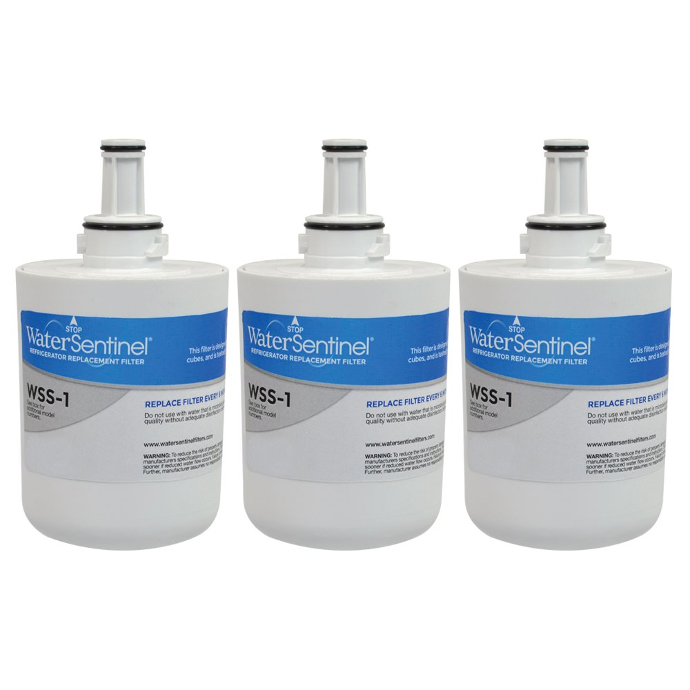 WaterSentinel WSS-1 Refrigerator Replacement Filter: Fits Samsung HAF-CU1 Filters (3-Pack)