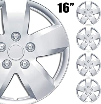 1Pc Replacement Premium 16 Inch Hubcap 16 Wheel Rim Cover Hub Caps OEM Style Snap On for Car Truck SUV BDK