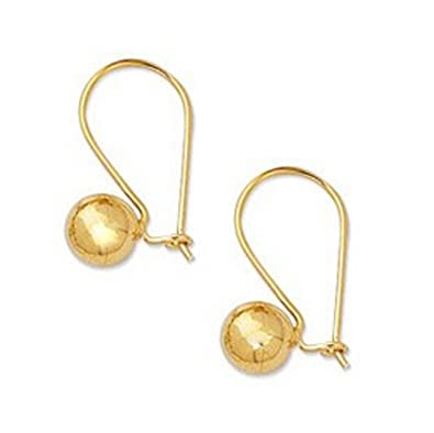 d0d1cef82 Image Unavailable. Image not available for. Color: Ritastephens 14k Real  Yellow Gold Ball Drop Dangle Earrings ...