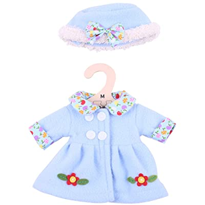 """Bigjigs Toys Blue, Flowery Rag Doll Coat and Hat for 13"""" Bigjigs Toys Soft Doll - Suitable for 2+ Years: Toys & Games"""
