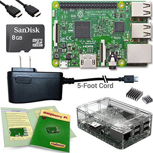 Viaboot Raspberry Pi 3 Complete Kit - Official Micro SD Card, Premium Clear Case Edition (Computer Build Your Own compare prices)