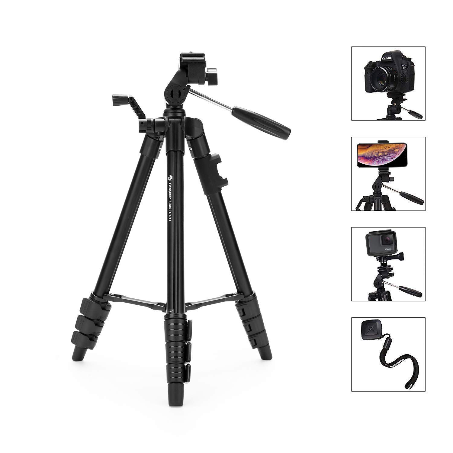 iStabilizer Camera Tripod, Phone Tripod Mount, Tripod Aluminum with Bluetooth Remote, Travel Tripod Stand Compatible for Canon, Nikon, Sony by iStabilizer