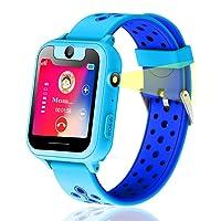 Kids Smart Watch, GPS Tracker Smart Watch Phone per bambini Ragazzi Ragazze Screen Camera Anti-Lost SOS Camera Game by Parents Control (Blu)