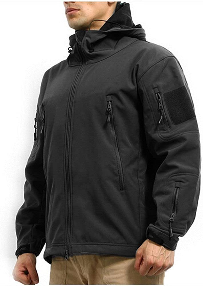Men's Army Outdoor Military Special Ops Softshell Tactical Hooded Jacket Hunting Jacket