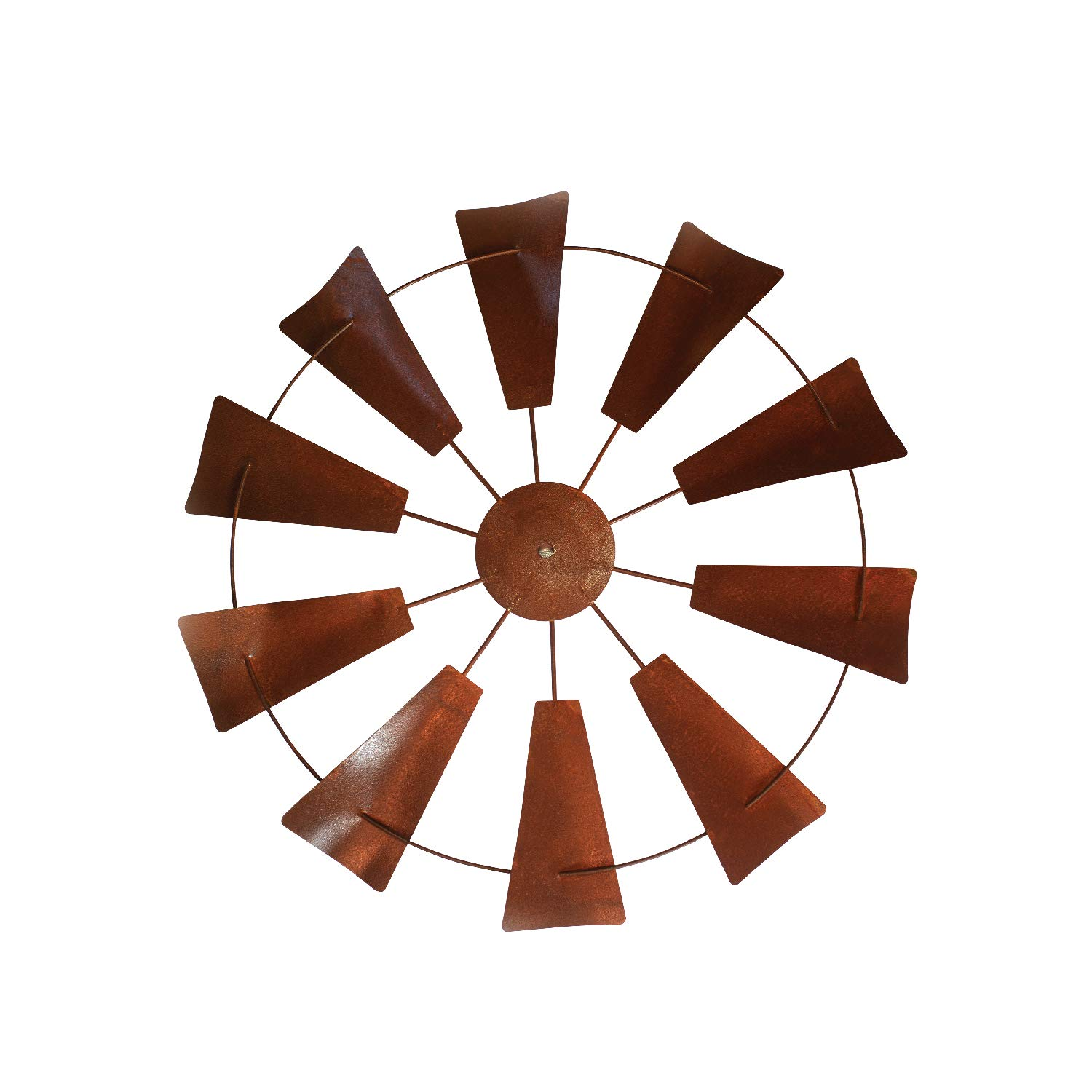 Rustic farmhouse windmill wall decor 20 rusty round metal country magnolia farm wind mill home decor windmills design accents in joanna gaines