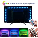 VIPMOON LED TV Backlights, Waterproof Remote Control, USB Powered LED Light Strip with RF Remote for Flat Screen TV PC