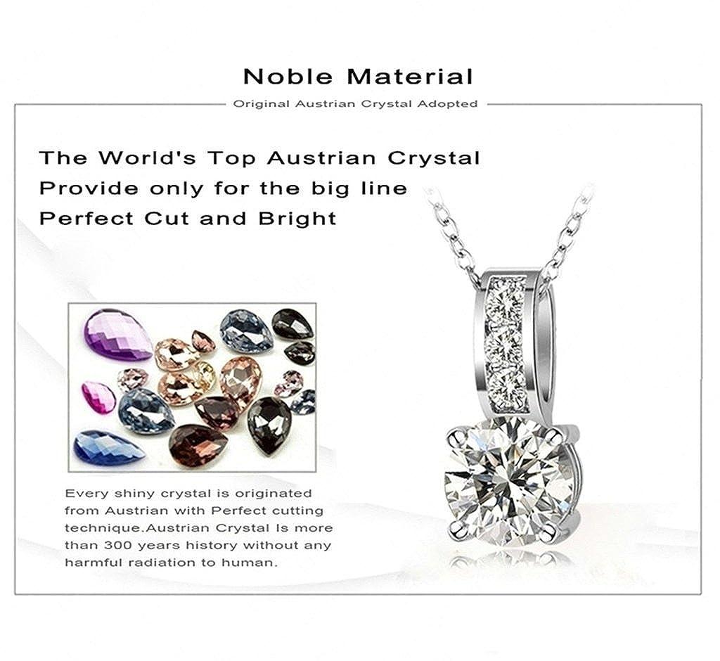 Novelty Necklace KnSam Women Platinum Plate Pendant Necklace Round Crystal Rhinestone