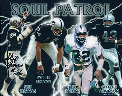 Skip Thomas Autographed/Signed Oakland Raiders 8x10 Photo Soul Patrol