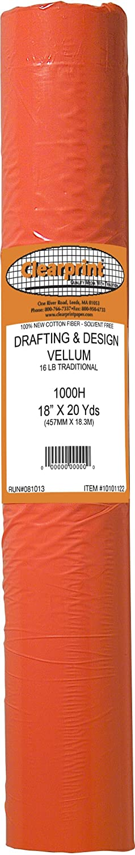 Clearprint - 1000H Series 36 x 5yd Unprinted Vellum Roll - CP10101149 Clearprint - Dummy NIS code 1000H-8
