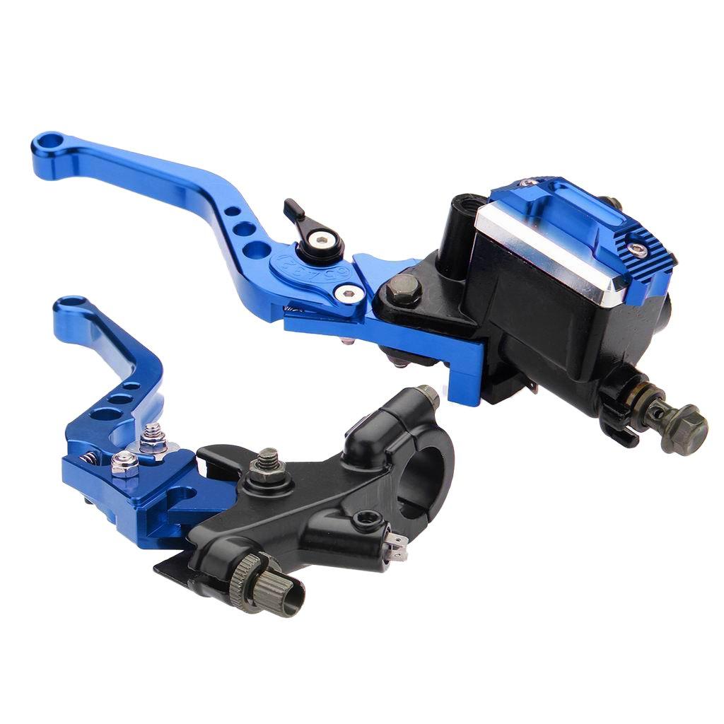 MagiDeal Leve Frizione Freno Cilindro Principale Universale 7//8 22mm Manubrio Moto Blu