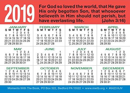 God's ABC's Calendar Card (Packet of 20, KJV)