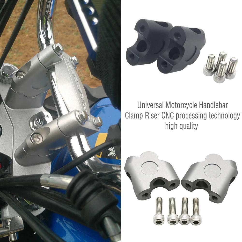 Adminitto88 Manubrio Universale per motoBar Riser Maniglia Fat Bar Mount Morsetti Riser Alluminio Moto Mount Adapter Riser Morsetto Manubrio Riser Montare Morsetti per Moto Dirt Bike 22mm