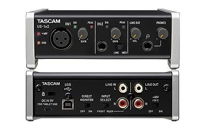 Tascam - US 1x2 - Tarjeta de sonido USB 1 In / 2 Out