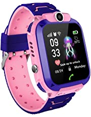 Kids SmartWatch Phone, Tracker Watch Touch for Girls 1.44'' Touch Screen Sim Card Game Smartwatch with Camera, SOS for Childrens Gift Compatible for iOS and Android