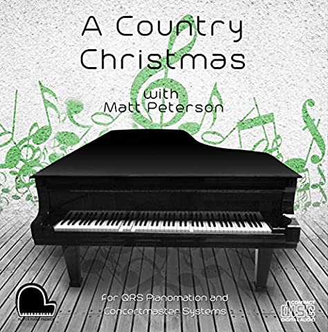 A Country Christmas - QRS Pianomation and Baldwin Concertmaster Compatible Player Piano MP3's on USB Flash (Usb Did Drive)