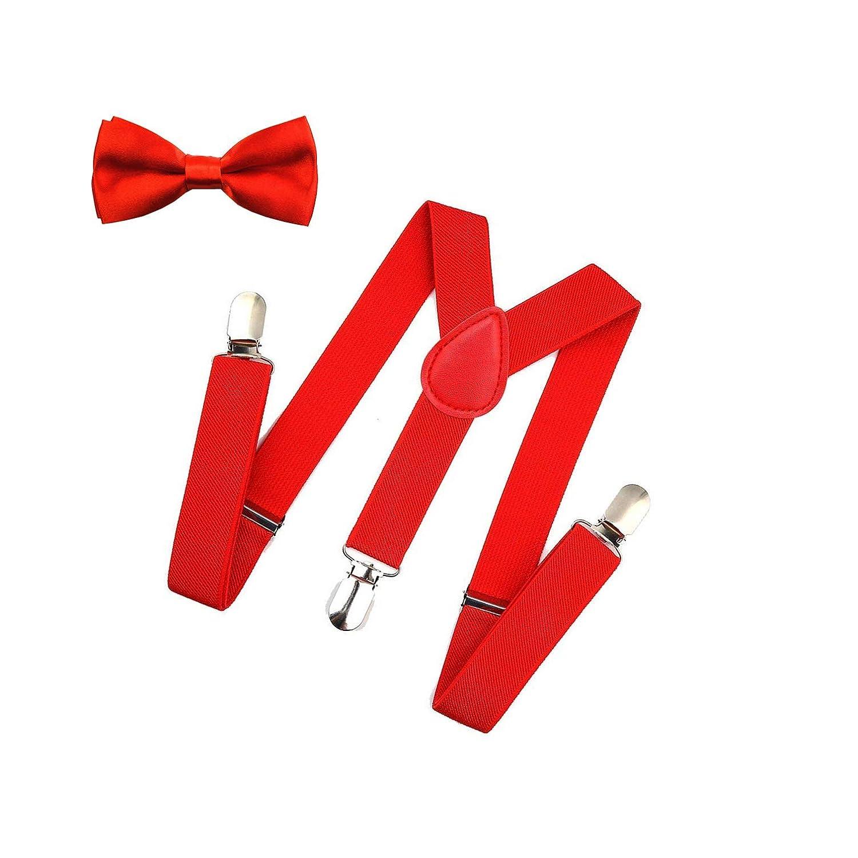 1 Adjustable Y-Back Suspender for Boys /& Girls Child Kids Suspenders Black