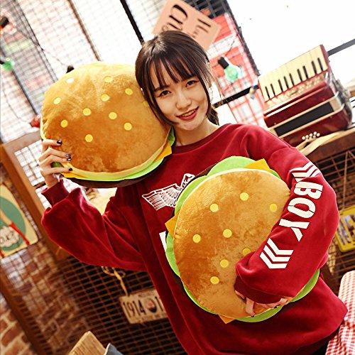 Kentop Cuscino per Sedia Simulazione Creativa panino Hamburger Cuscino da Sofa