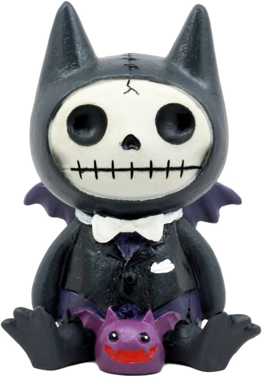 Ebros Larger Furry Bones Count Dracula Vampire Flappy Skeleton Monster Sit Up Collectible Figurine 4