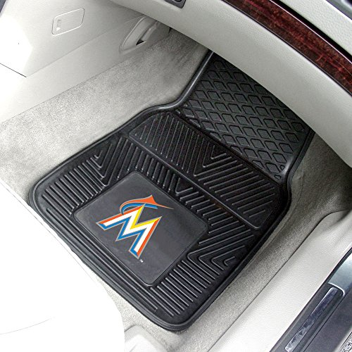 "Fanmats Florida Marlins Heavy Duty 2-Piece Vinyl Car Mats 18""x27"" MLB-8838"