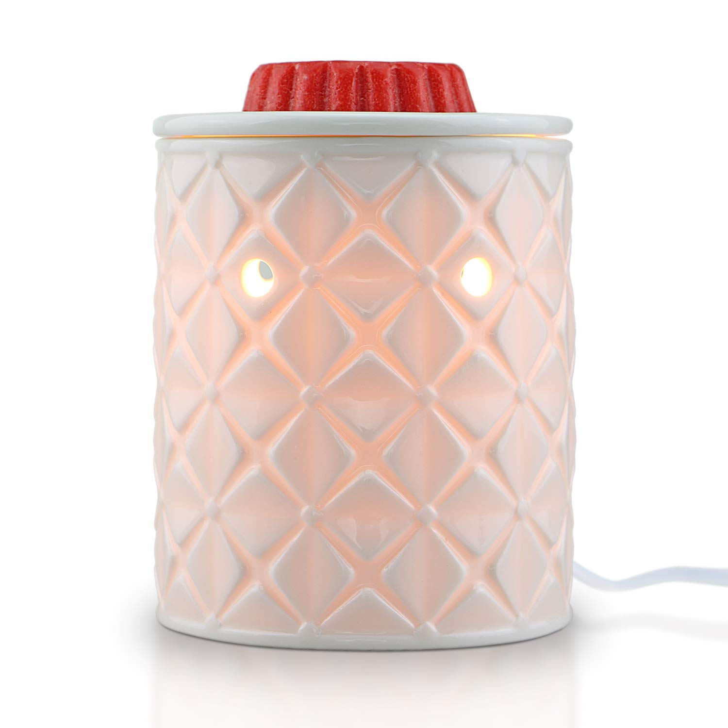 STAR MOON Electric 2-in-1 Candle Warmer for Wax Melt, Home Fragrance Diffuser, Fragrance Air Fresheners, Home Décor, No Flame, Removable Dish, with One More Bulb (Four-Leaf Clover)