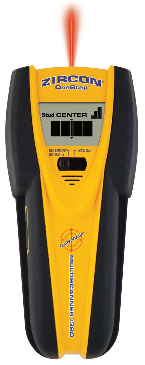 Zircon MultiScanner i320 OneStep Center-Finding Stud Finder with Metal Scanning and DVD How-To Guide