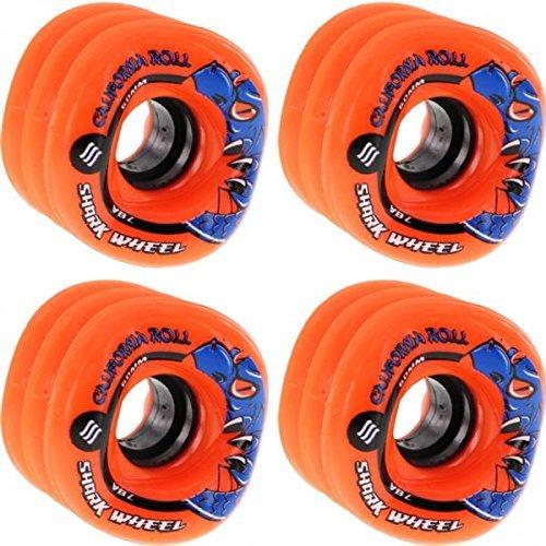 Shark Wheels California RollオレンジSkateboard Wheels – 60 mm 78 a ( Set of 4 ) [並行輸入品]   B0796BGNRG