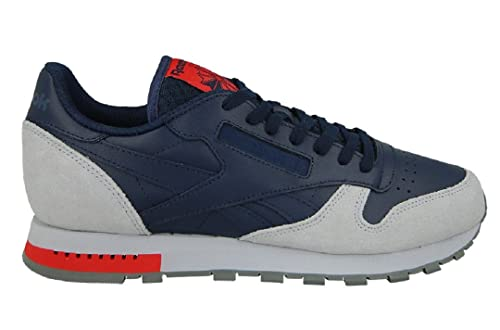 ae786b3aa26 Reebok Classic Leather Grey - BD4415 - Color Grey-Navy Blue - Size  10.5   Amazon.co.uk  Shoes   Bags