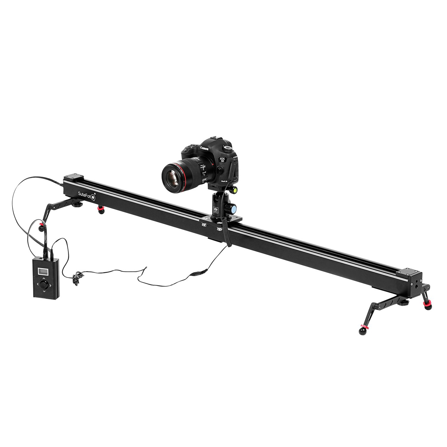 Dazzne 39.37 inch Electronic Motorized Camera Slider DSLR Camera Track Dolly slider Video Stablilzer Rail with Time Lapse Tracking Panoramic Video Shooting, Perfect Photograph Movie Film Video Making