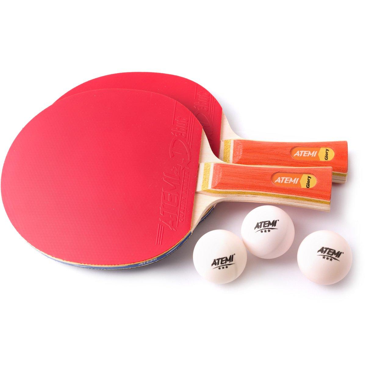 Atemi Sniper 5-Star Table Tennis Bat Bundle  (3-Piece Set ) 5-Ply ... 21c90352fb566