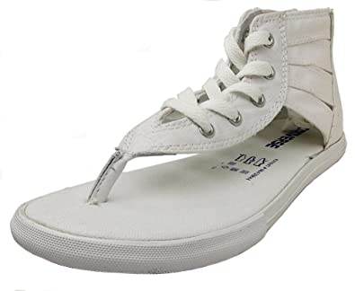 Converse Womens Gladiator Thong White Sandal - 7.5 10c447621
