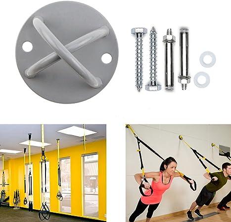 Soporte de techo para entrenamiento de suspensión-soporte de anclaje resistente para crossfit,columpio de yoga y hamaca,bandas de fuerza, correa de ...