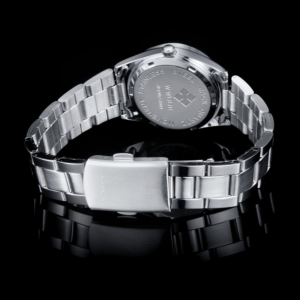 Amazon.com: Qingmei WWOOR Women Watches Quartz Calendar Luminous Relogio Feminino Watch white: Watches