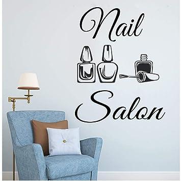 Mhdxmp Logotipo Del Salón De Uñas Etiqueta De La Pared Naisl ...