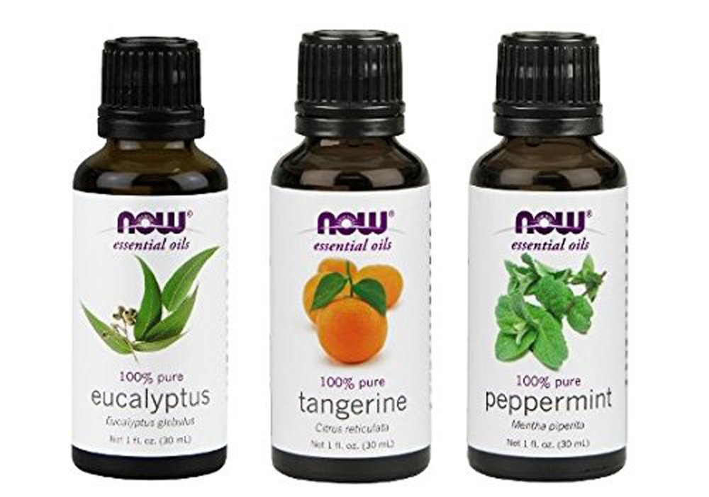 Now Foods Essential Oils Mental Focus 3-Piece Set (Eucalyptus, Tangerine, Peppermint)