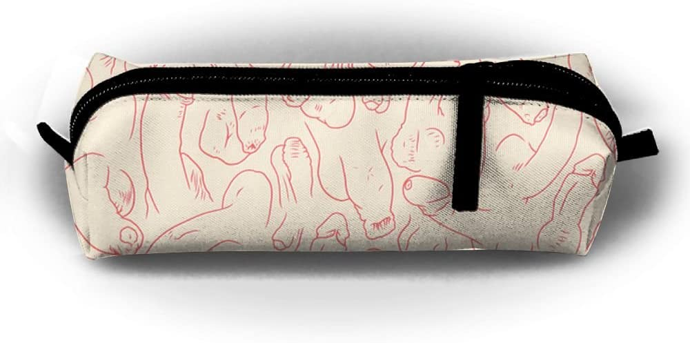 GS wall Penis Funny Pattern Pen Bag Pencil Case Cosmetic