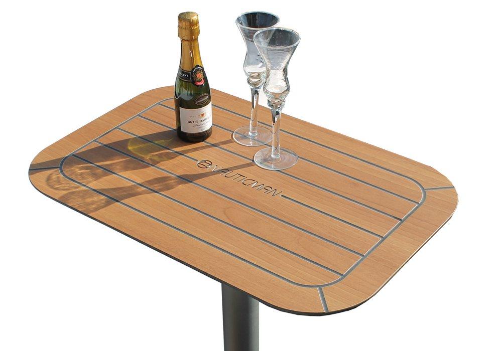 NAUTICMAN® Bootstisch 40cm x 60cm Classic Teak