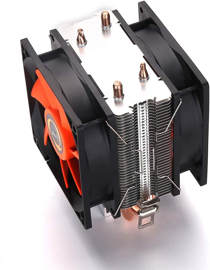 heaven2017 Mute CPU Fan Cooling Fan Heat Dissipation Heatsink CPU Cooler Radiator for AMD