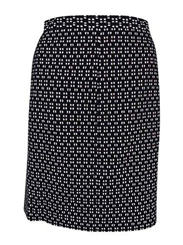 Anne Klein Women's Straight Pencil Textured Knit Skirt Black 6 (Klein Anne Lined Skirt)