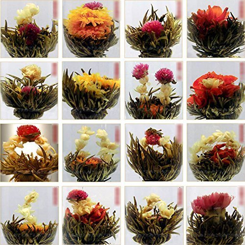 Random Chinese Green Artistic Flowering Blooming Flower Tea Ball 10pcs J*myi