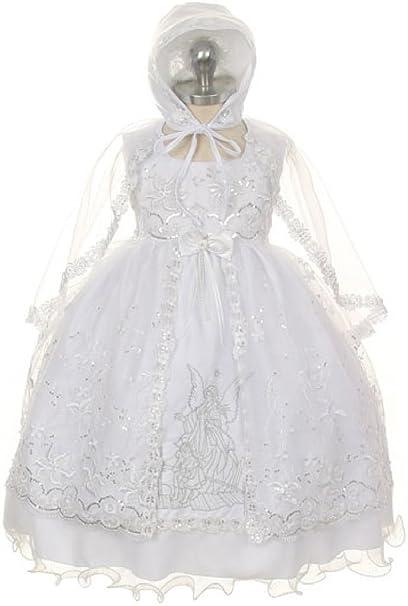 Amazon.com: Bautismo Vestido De Bautizo Angel – bordado ...