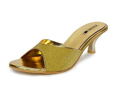 63bbb9a7b13f Vendoz Women Golden Heels  Buy Online at Low Prices in India - Amazon.in
