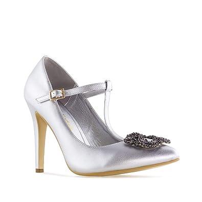 b3b21c5abd750 Andres Machado.AM5313.Escarpins Bijoux Soft pour Femmes Petites et Grandes  Pointures 32 35-42 45.  Amazon.fr  Chaussures et Sacs