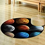 Small round rug Carpetsolar system and space objects elements of this image furnished by nasa door mat indoors Bathroom Mats Non Slip-Round 24''